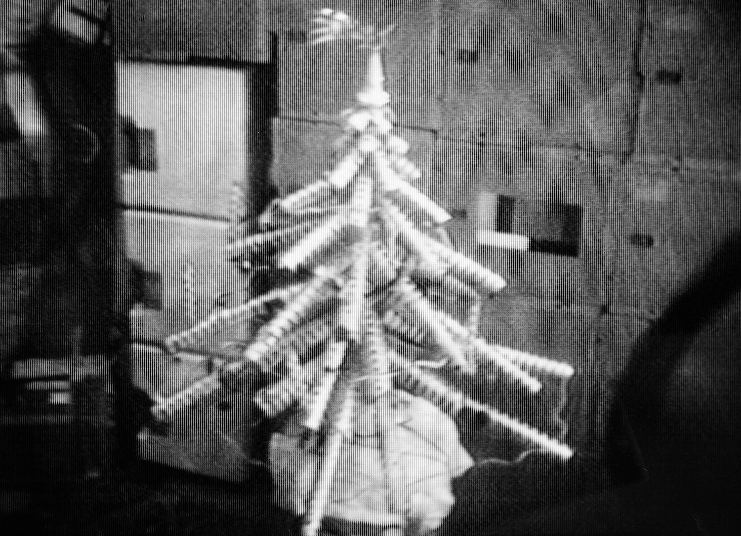 Skylab's Christmas tree, fashioned by the astronauts Gerald Carr, William Pogue and Ed Gibson in December 1973. Image credit: NASA