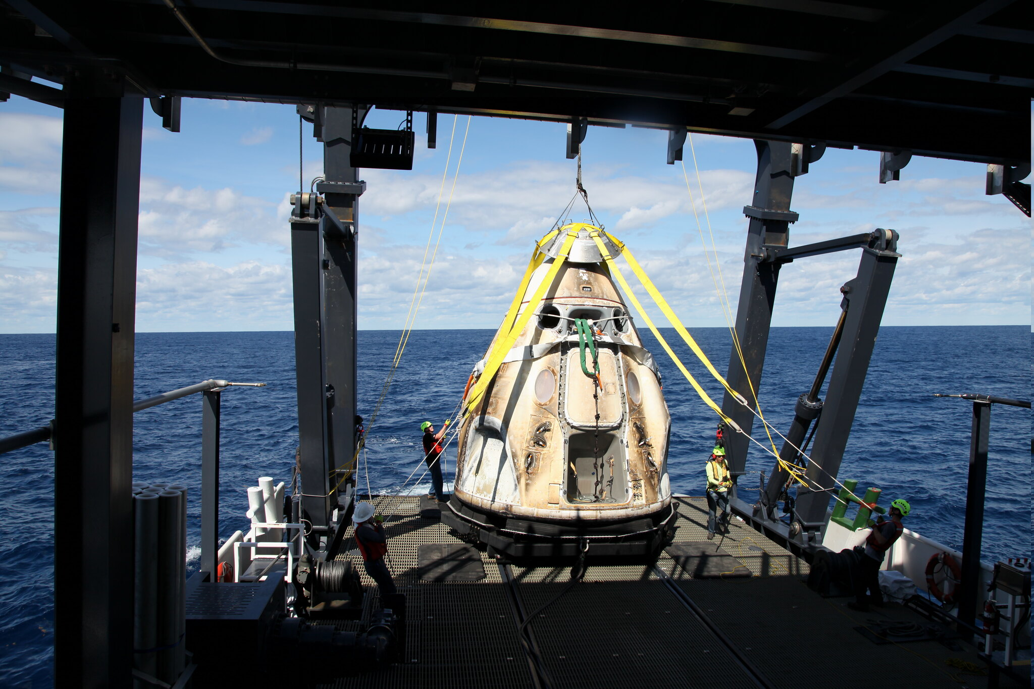 SpaceX Demo-1 Crew Dragon Capsule Recovery