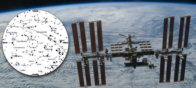 Regardez passer la Station Spatiale Internationale